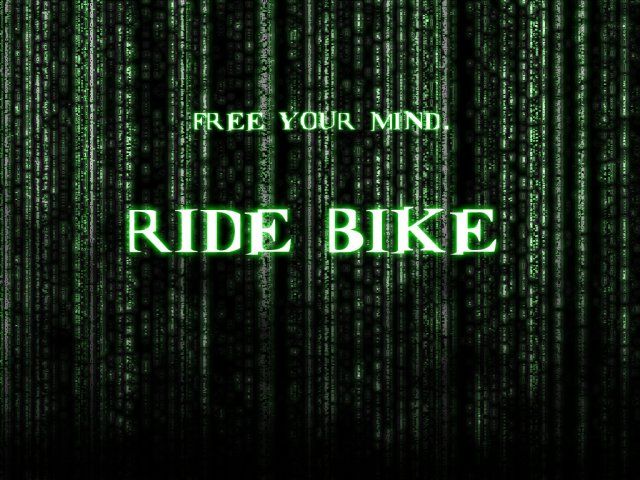 Ride bike background (Matrix) | Joje